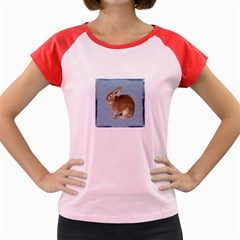 Cute Bunny Women s Cap Sleeve T Shirt (colored) by mysticalimages