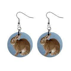 Cute Bunny Mini Button Earrings by mysticalimages