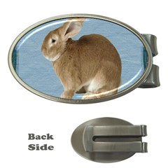 Cute Bunny Money Clip (oval) by mysticalimages