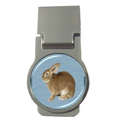 Cute Bunny Money Clip (round) by mysticalimages