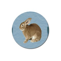 Cute Bunny Magnet 3  (round) by mysticalimages