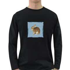 Cute Bunny Mens' Long Sleeve T Shirt (dark Colored) by mysticalimages