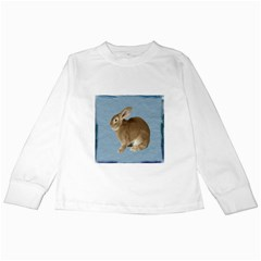 Cute Bunny Kids Long Sleeve T Shirt by mysticalimages
