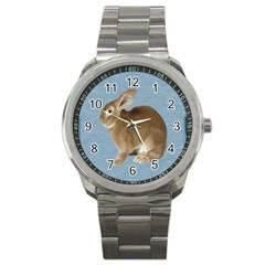 Cute Bunny Sport Metal Watch by mysticalimages