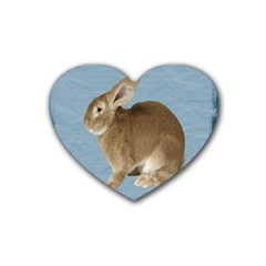 Cute Bunny Drink Coasters 4 Pack (heart)  by mysticalimages