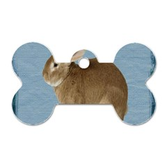 Cute Bunny Dog Tag Bone (one Sided) by mysticalimages