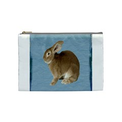 Cute Bunny Cosmetic Bag (medium) by mysticalimages