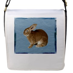 Cute Bunny Flap Closure Messenger Bag (small) by mysticalimages