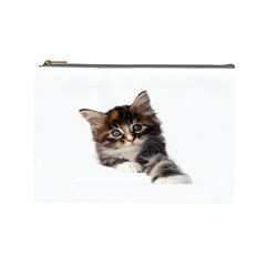 Curious Kitty Cosmetic Bag (large) by mysticalimages