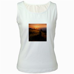 Evening Rest Womens  Tank Top (white) by mysticalimages
