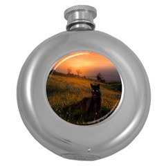 Evening Rest Hip Flask (Round)