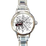 Spider in web Round Italian Charm Watch