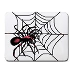 Spider in web Small Mousepad