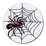 Spider in web Round Mousepad