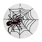 Spider in web Ornament (Round)