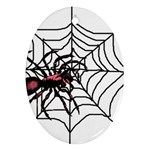 Spider in web Ornament (Oval)