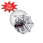 Spider in web 1.75  Button (100 pack)