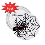 Spider in web 2.25  Button (10 pack)
