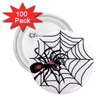 Spider in web 2.25  Button (100 pack)