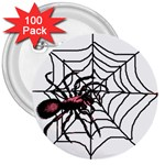 Spider in web 3  Button (100 pack)
