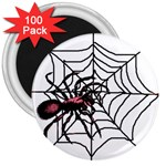 Spider in web 3  Magnet (100 pack)