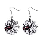 Spider in web 1  Button Earrings