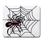 Spider in web Large Mousepad