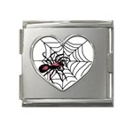 Spider in web Mega Link Heart Italian Charm (18mm)