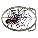 Spider in web Belt Buckle