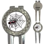 Spider in web 3-in-1 Golf Divot