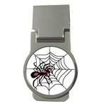 Spider in web Money Clip (Round)