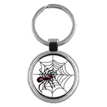 Spider in web Key Chain (Round)