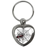 Spider in web Key Chain (Heart)