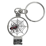 Spider in web Nail Clippers Key Chain