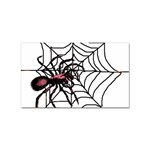 Spider in web Sticker (Rectangular)