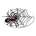 Spider in web Magnet (Oval)