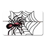Spider in web Magnet (Rectangular)