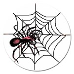 Spider in web Magnet 5  (Round)