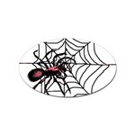 Spider in web Sticker Oval (10 pack)