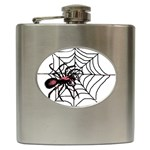 Spider in web Hip Flask (6 oz)
