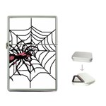 Spider in web Flip Top Lighter