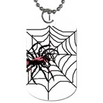 Spider in web Dog Tag (Two Sides)