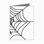 Spider in web Mini Greeting Card