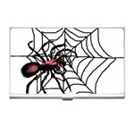 Spider in web Business Card Holder