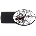 Spider in web USB Flash Drive Oval (2 GB)