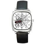 Spider in web Square Metal Watch