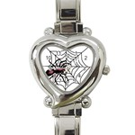 Spider in web Heart Italian Charm Watch