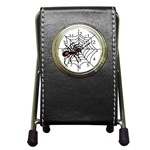 Spider in web Pen Holder Desk Clock