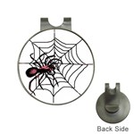 Spider in web Golf Ball Marker Hat Clip