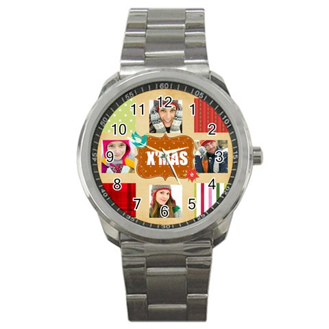 Christmas By Merry Christmas   Sport Metal Watch   Bdk8trmkjtw3   Www Artscow Com Front